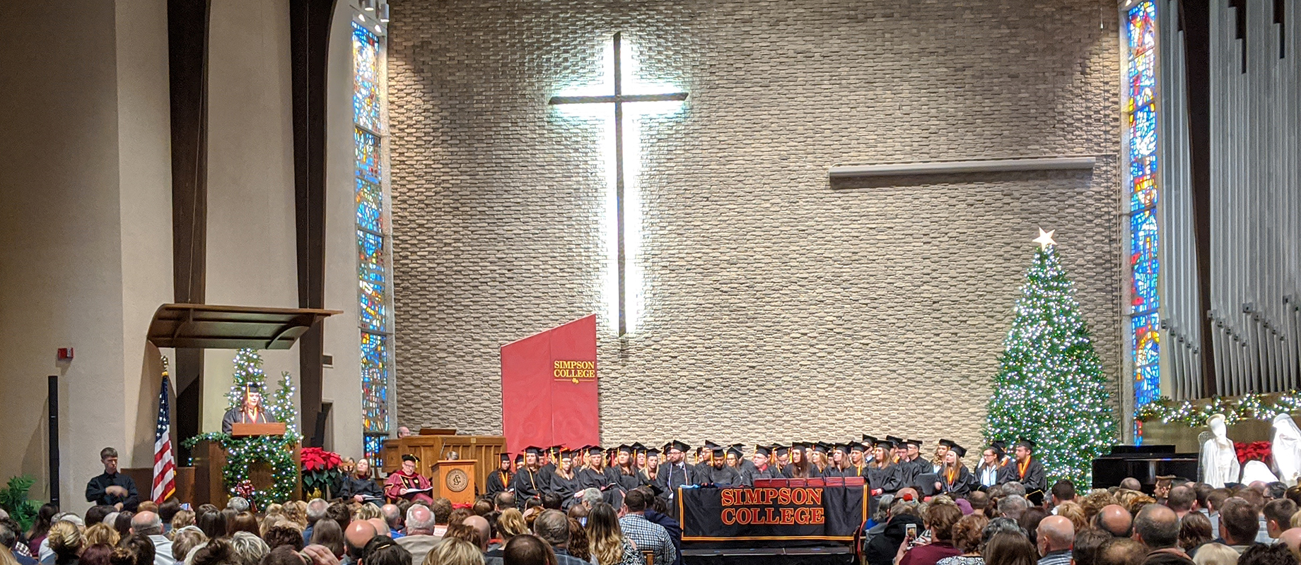 Commencement at Smith Chapel.