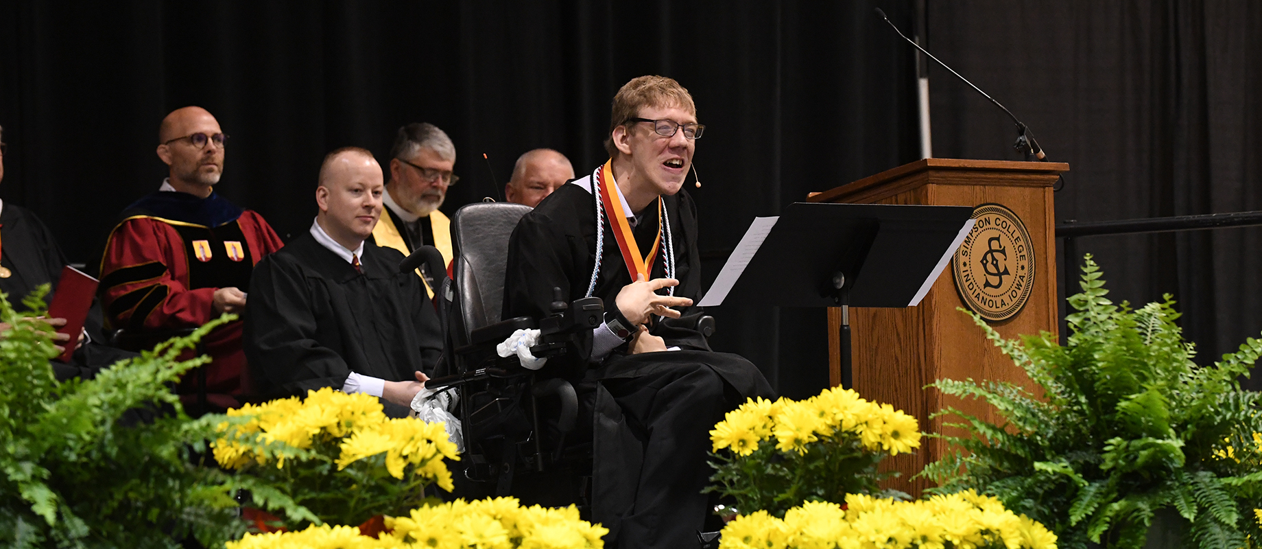 Alex Hoffman delivered the undergraduate student address at the 2019 commencement ceremony.