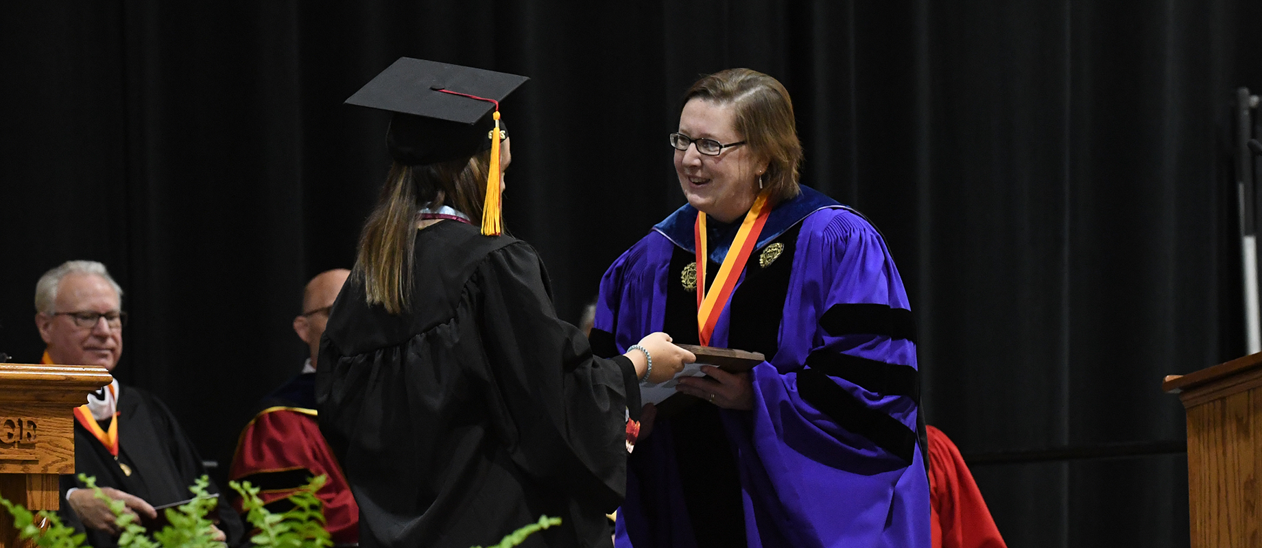 Judy Walden earned the Distinguished Teaching Award at the 2019 commencement ceremony.
