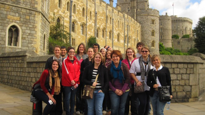 History Students Study Abroad at Windsor Castle