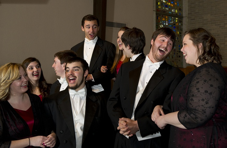 Candid Madrigal Singers Photo