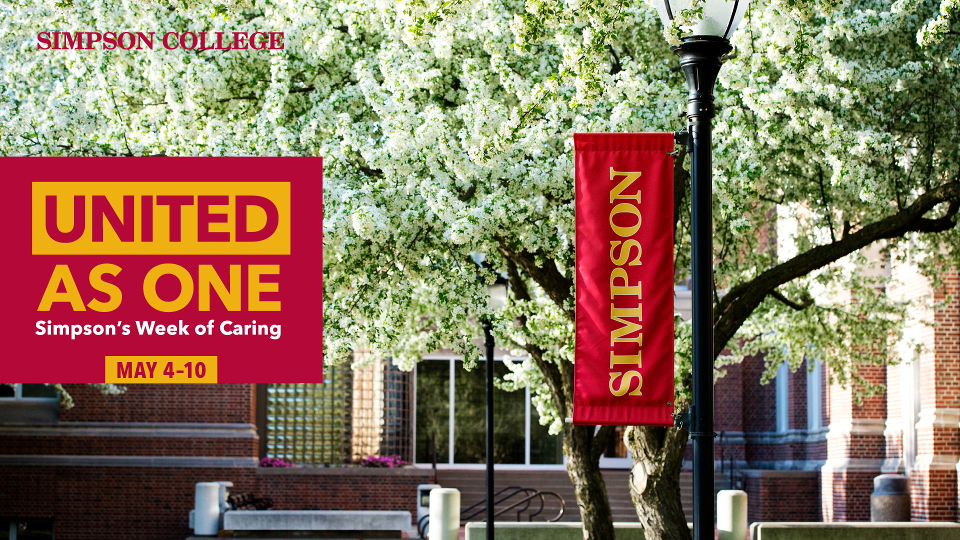 United as ONE: Simpson's Week of Caring Campus Photo