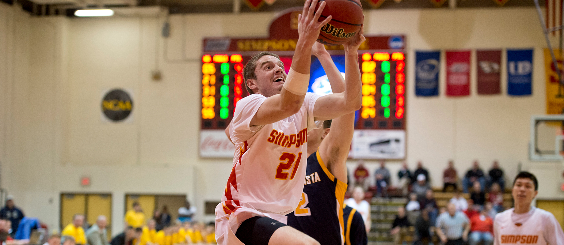 Junior men's basketball player Conor Riordan