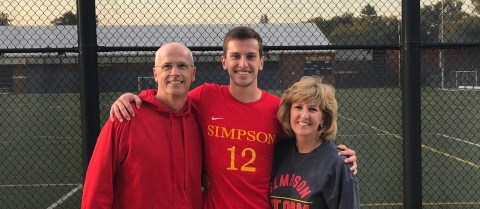 Simpson College graduate Connor Robson